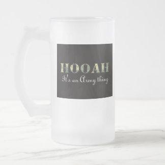 HOOAH FROSTED GLASS MUG