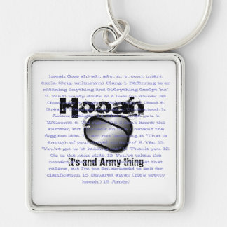 Hooah, It's and Army thing Silver-Colored Square Key Ring