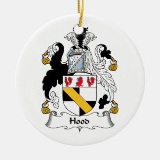 Hood Family Crest Christmas Ornaments
