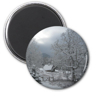 Hood River Winter 6 Cm Round Magnet