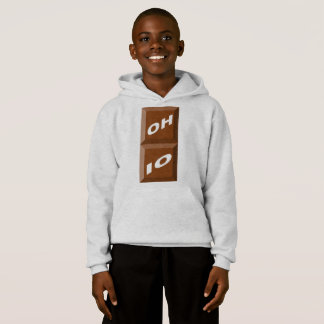 HOOD SWEATER HANES OHIO CHOCOLATE