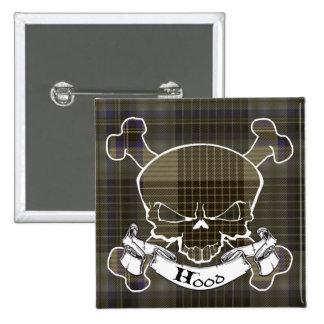 Hood Tartan Skull Pins