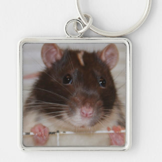 Hooded Fancy Rat Large Keychain