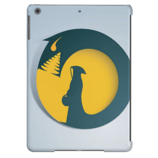 Hooded Figure with Monster Shadow Cover For iPad Air