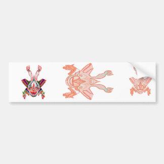 Hooded Flying Monster - turn me I change Face Bumper Sticker