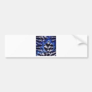 Hooded Fractals Bumper Sticker