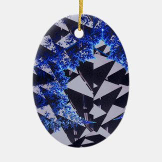 Hooded Fractals Christmas Ornaments