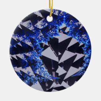 Hooded Fractals Christmas Tree Ornament