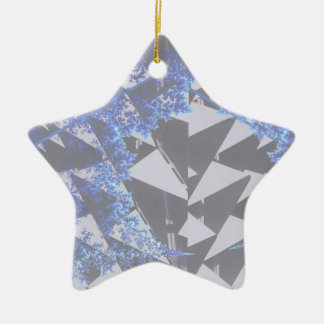 Hooded Fractals 'Your Text Here' Christmas Tree Ornaments