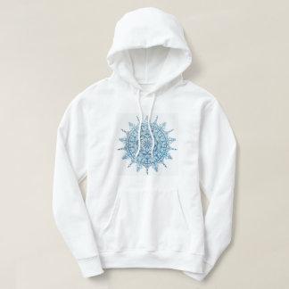 Hooded Sweatshirt Blue Mandala Design