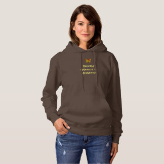 Hooded Sweatshirt Brown Custom