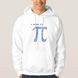 Hooded Sweatshirt w Pi Recipe on Back - Math Humor