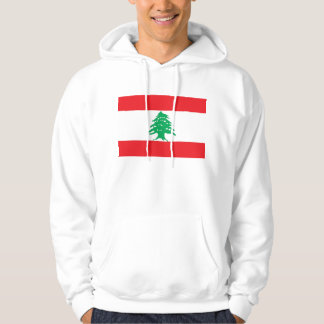 Hooded Sweatshirt with Flag of Lebanon