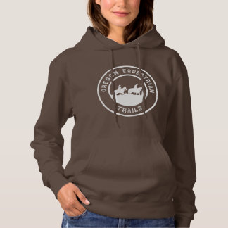 Hooded sweatshirt with full-sized logo