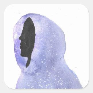 Hoodie Made of Starlight Square Sticker