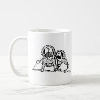 Hoodie Pugs Basic White Mug