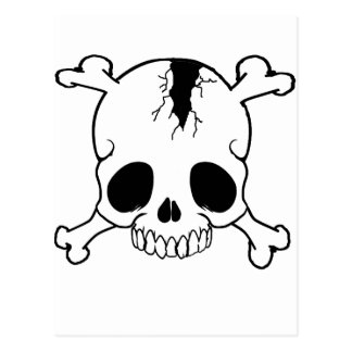 Hoodies with cracked skulls,t shirts with skulls postcard