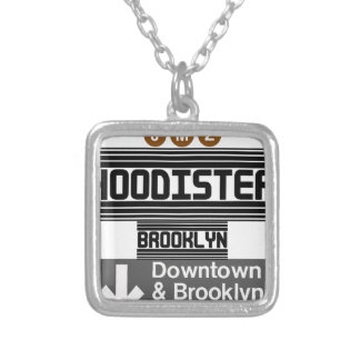 HOODISTER BROOKLYN SILVER PLATED NECKLACE