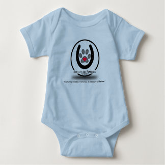 Hoofbeats and Pawprints Logo Baby Legless Jumper Baby Bodysuit