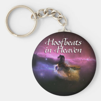 Hoofbeats in heaven basic round button key ring