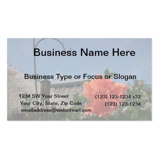 hook and hibiscus painting neat flower design business card