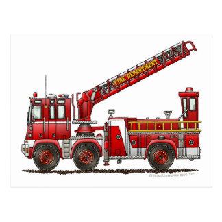 Hook and Ladder Fire Truck Postcard