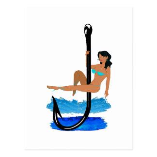 Hook, Line, Sink Her Postcard