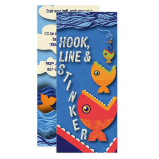 Hook, Line & Stinker Birthday Card