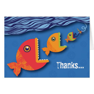 Hook, Line & Stinker Thank You Card
