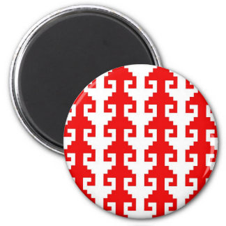 """Hook"" magnet - red/white"