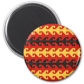 """Hook"" magnet - red/yellow/black"
