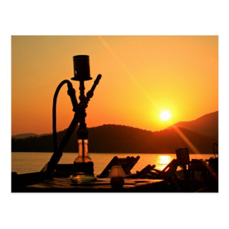 Hookah Sunset Postcard