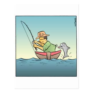 Hooked Fisherman Postcard