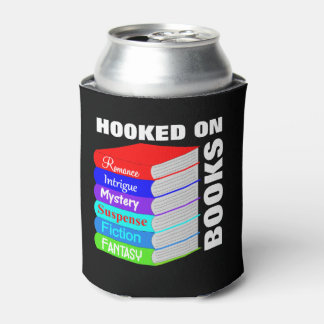 Hooked On Books Book Lovers Novelty Can Cooler
