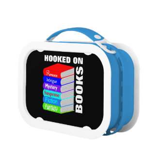 Hooked On Books Book Lovers Novelty Personalized Lunch Box