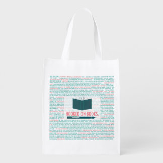 Hooked on Books! Reusable Grocery Bag