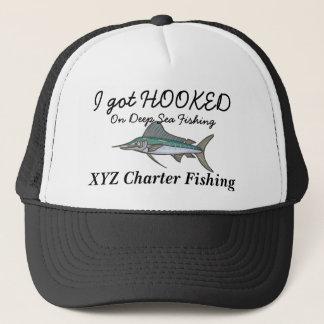 hooked on fishing cap