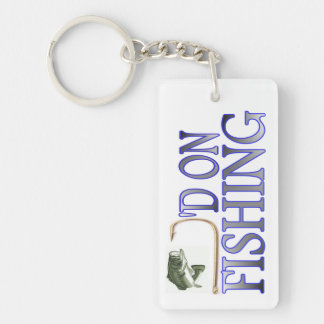 Hooked on Fishing Keychain
