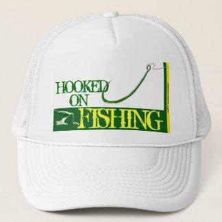 """""""Hooked on Fishing"""" Mesh Ballcap Trucker Hat"""