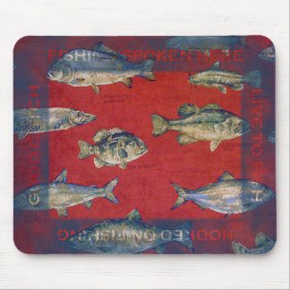 Hooked On Fishing Mouse Pad