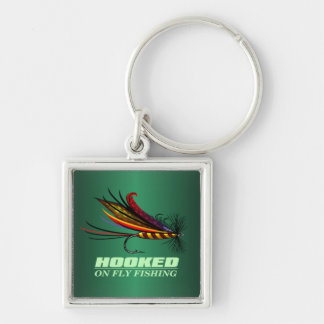 Hooked On Fly Fishing Key Ring