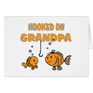 Hooked on Grandpa (fish) Greeting Card