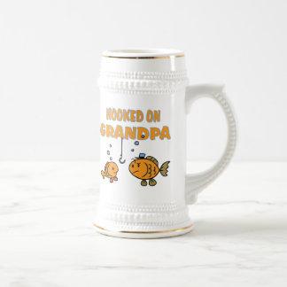 Hooked on Grandpa (fish) Mug
