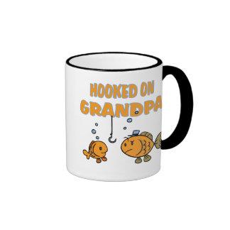 Hooked on Grandpa (fish) Mugs