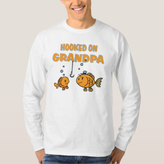 Hooked on Grandpa (fish) T-Shirt