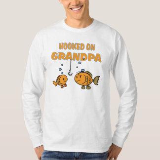 Hooked on Grandpa (fish) T-shirt