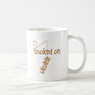 Hooked On Ukulele Basic White Mug
