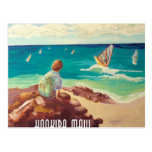 hookipa windsurfing postcard