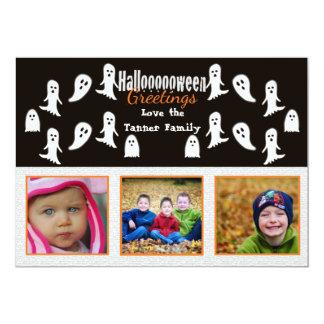 Hooo Halloween Greetings photo card and invite