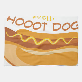 Hoooot Dog Tea Towel